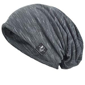 herren slouch hollow mütze thin sommer cap strickmützen beanie skullcap multi grau