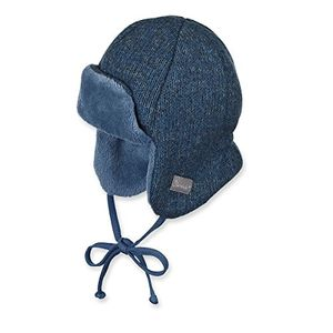 sterntaler jungen mütze fliegermütze wintermütze strickmütze zum binden gefüttert von sterntaler blau 4601752 45blau