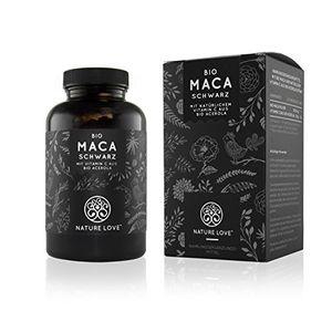 Top bio maca kapseln 3000mg schwarzes bio maca je tagesdosis 180 kapseln mit natürlichem vitamin c ohne zusätze wie magnesiumstearat zertifiziert bio hochdosiert vegan hergestellt in deutschland