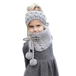 Angebote für -winter mütze kinder strickmütze mit schal wolle gestrickte hüte kapuze mönchskutte beanie mützen für kinder mädchen schalmütze tier mütze wolleschal warme haube kappen earflap
