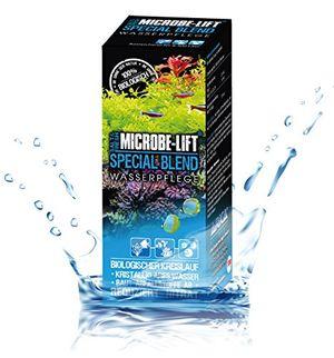 microbe lift special blend wasserpflege für einen optimalen biologischen kreislauf kristallklares wasser in jedem meerwasser süßwasser aquarium baut abfallstoffe ab weniger wasserwechsel 473 ml