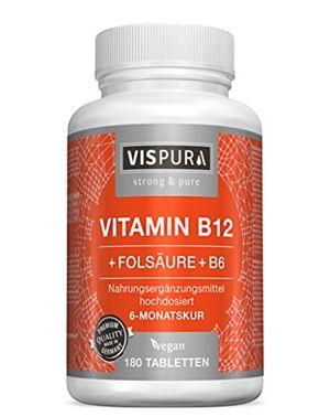 Review for Vitamina B12 altamente concentrada, 1000 µg con fórmula VITAL + vitamina B6 metilcobalamina, 180 comprimidos VEGANOS, producto alemán de calidad premium y devolución gratuita durante 30 días. Hot oferta