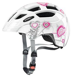 uvex 414807 kinder fahrradhelmmehrfarbig heart white pink 51 55 cm