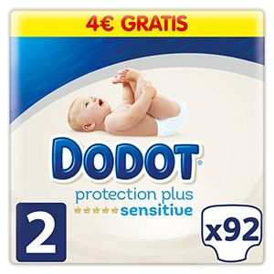 Calientes Dodot Pañales Protection Plus Sensitive,Talla 2, para Bebes de 4-8 kg - 92 Pañales comparación