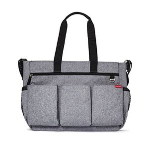 ofertas para - skip hop double heather grey bolsa de pañales