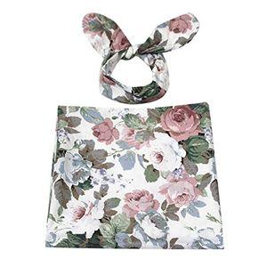 deals for - sharplace baby infant floral bedruckte swaddle wrap decke schlafsack stirnband set stil 5