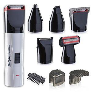 ofertas para - babyliss kit de corte t839e set de afeitado eléctrico multifunción barba y cuerpo con recortador de nariz y orejas cuchillas de acero inoxidable lavable