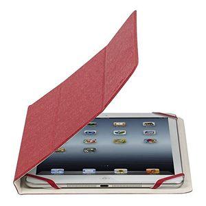"""Cheap rivacase® tablet case bis 101"""" sehr flache hülle mit zwei farbigen wendecover und silikon montagesystem rotweiß"""