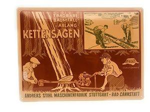 Angebote für -stihl blechschild nostalgie schild 395 x 295 cm werbeschild vintage