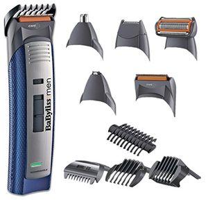 BaByliss E836XE - Kit de corte de pelo, multigroom, maquinilla eléctrica para cabello y barba, cortapelos hombre, perfilador, cabezal para nariz y orejas Hot oferta