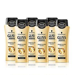 Calientes Gliss Champú Ultimate Oil Elixir - Paquete de 6 x 250 ml - Total: 1500 ml Guía