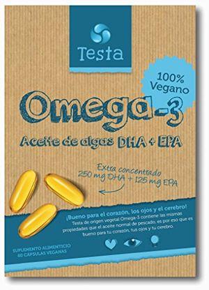 Cheap Testa Omega-3 Aceite de Algas cápsulas de 450mg Omega-3 Vegano DHA + EPA - (60 cápsulas) opinión