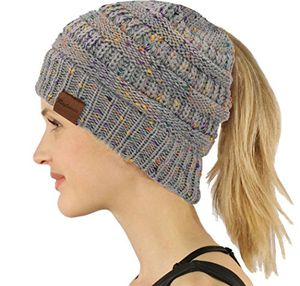 deals for - chunky cable knit slouchy beanie trendige unisex dicke weiche warme winter mütze cap gray
