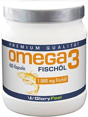 Angebote für -omega 3 fischöl kapseln 1000mg der vergleichssieger 2017 400 stück hochdosiert mit 180mg epa und 120mg dha pro omega 3 softgel kapsel ohne magnesiumstearate von gloryfeel