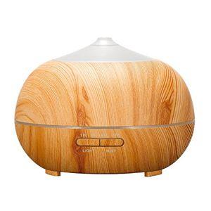 Barato Tenswall, Humidificador ultrasónico Tenswall de 400ml de capacidad, difusor de aromaterapia, difusor de aceites esenciales, exclusivo diseño con aspecto de madera, purificador de aire con LED de 7 colores para el hogar, oficina, Spa, dormitorio Mejor compra