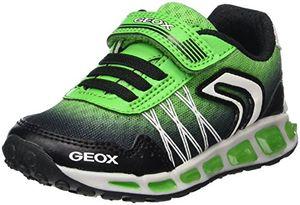 geox jungen j shuttle boy b sneaker schwarz blackgreen 38 eu