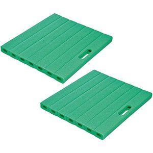 com four 2x schaumstoff kniekissen ca 35 cm x 30 cm x 3 cm grün 35 x 30 cm 02 stück grün