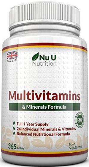 ofertas para - multivitamins minerals formula24complemento vitamínico vitaminas y mineralesvégétarienhombremujercure d 1an365pastillassuplemento de nu u nutrition