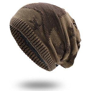Angebote für -uphitnis warm beanie mütze long wintermütze damen herren slouch strickmütze mit stern flecht muster weich teddyfleece