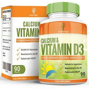 ofertas para - suplemento de calcio y vitamina d3 500mg calcio huesos fuertes y dientes sanos para hombres y mujeres apto para vegetarianos 90 pastillas suministro para 3 meses de earths design