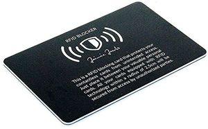 Angebote für -jaimie jacobs ® rfid blocker karte rfid schutz für kreditkarten nfc blocker eine karte schützt die gesamte geldbörse störsender für kontaktlose kreditkarten schwarz