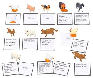 Angebote für -betzold textkarten und figuren leseduo bauernhof lesen und zuordnen lernen schule schüler kinder inklusion deutsch unterricht leseübungen trainieren daz
