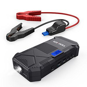 Buy tenker 600a 14000mah tragbare auto starthilfe power pack jump starter externer akku ladegerät mit dual smart usb ausgänge led taschenlampe kompass und lcd display