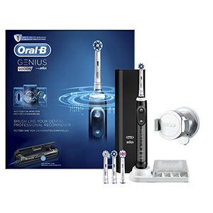 Oral-B Genius 9000 - Cepillo de dientes eléctrico, SmartRing, 6 modos, Bluetooth, 4 cabezales, estuche con USB, color negro guía del comprador