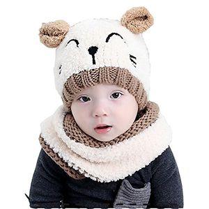 Hot baby hüte kinder mütze süße warme feinstrick beanie mütze baby hat für das ganze jahr weicher stoff 3 beige one size