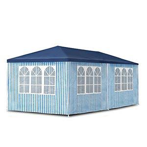 deals for - jom gartenpavillon 3 x 6 m pavillon pavillion partyzelt festzelt gartenzelt mit 6 seitenwänden 110g pe