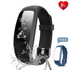 Angebote für -chianruey fitness armband mit herzfrequenz fitness tracker pulsuhr aktivitätstracker mit schlafüberwachungwasserdicht bluetooth fitness armbanduhr mit schrittzähler kalorienzähler f¨¹r damenherren