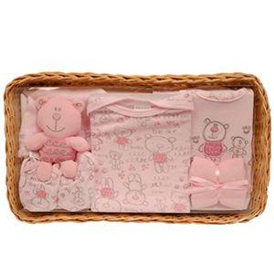 Barato Abeja Bo cesta de bandeja de bebé Set de regalo 0–3meses–Rosa Hot oferta