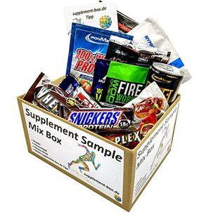 Hot supplement sample mix box 6 shakes 5 fitnessriegel 1 drink diverser markenhersteller