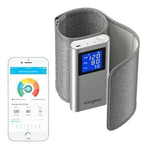 Buy Koogeek Tensiómetro de Brazo Monitor de Presión Arterial Medir la Frecuencia Cardíaca FDA y CE Certificado con Gran LCD Pantalla app gratuita para IOS y Android ofertas Especiales