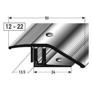 alu höhenausgleichsprofil 90cm silber ✓ 12 22m ✓ inkl schrauben ✓ übergangsprofil für laminat parkett teppich übergangsleiste bodenprofil für fußböden übergangsschiene anpassungsprofil metallprofil türschiene mit stufenlosem ausgleich
