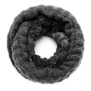 Cheap zqy winter warmer feinstrick loop schal schlauchschal mit flecht muster und sehr weichem fleece innenfutter