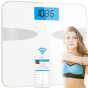 ofertas para - báscula de baño digital bluetooth con app por ios y android yeco medidor de grasa corporal con bluetooth con análisis corporal de 8 funciones 10 registrar usuarios 4 sensores de alta calidad el mejor regalo