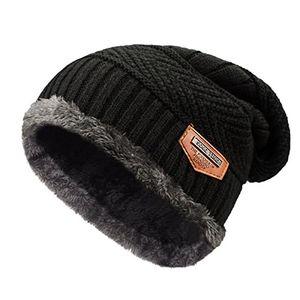 deals for - tuopuda® beanie herren mütze strickmütze skimütze beanie mütze warme mütze winter mütze mit fleecefutter schwarz