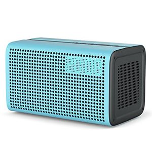 ggmm e3 wi fi lautsprecher bluetooth speaker ohne alexa wireless multiroom system stereo sound 10w mit wifi repeater led uhr wecker und usb ladeport für ios android geräte airplay dlna spotify blau