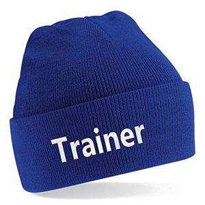 Buy strickmütze bestickt mit trainer oder individuell gestaltbar