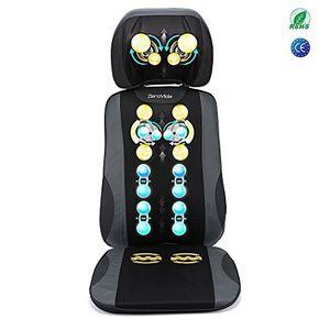 ofertas para - zerovida masajeador espalda electrico respaldo masaje shiatsu 5d asiento masaje respaldo de masaje para relajar cuello espalda función de calor infrarrojos vibración multimodal ajustable negro