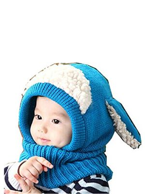 baby wintermütze strickmütze schlauchschal mädchen schlupfmütze mütze hut beanie ballonmütze hüte wintermütze schlupfmütze junge hüte mützen schirmmütze hasen lmmvp blau