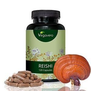 Buy Extracto de Reishi de Vegavero | Sistema inmunológico + Antioxidante + Cansancio + Estrés + Ansiedad + Colesterol + Desintoxicante + Alergias | 120 cápsulas | Producto alemán | Instrucciones en español | Vegano, sin gluten Hot oferta