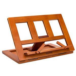 ofertas para - halovie soporte para libro tablet ipads book holder atril de lectura ajustable y plegable de madera 3423528cm