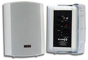 e lektron ewl5a stereo aktiv lautsprecher paar inkl wandhalter 5 2x 60w weiß