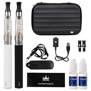Review for NOVEL Cigarrillo Electronico eGo-T CE4 con doble kit de iniciación, batería recargable de 1100mAh, Vaporizador de 1,6ml + 2 x 10ml set E-Líquido 0,00 mg Nicotina comparación