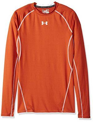 Hot under armour herren shirt mit rundhalsausschnitt größe l texas orangewhite