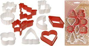 kamaca 20 teiliges set plätzchenformen ausstechformen ausstecher set in rot und weiss