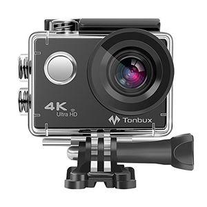 Review for 4k action kamera tonbux 4k action cam wifi helmkamera tauchen 2 zoll wasserdicht unterwasserkamera 170° ultra weitwinkel 2x1050mah akkuzubehör kit für tauchen motorrad fahrrad fahren und schwimmen
