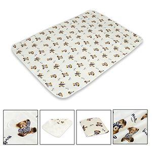 Esterilla para cambiar pañales de Letech®, para bebés y niños pequeños, impermeable, lavable, reutilizable marrón Talla:XL (80*110cm) antes de compra